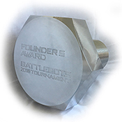 The Founders' Award giant bolt trophy
